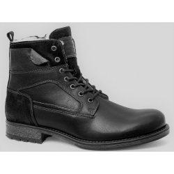 Mustang bakancs Black Leather